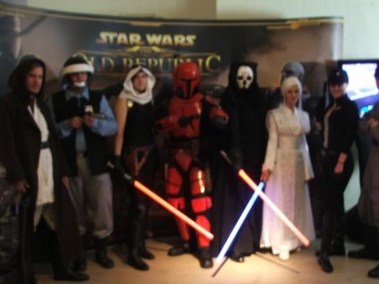 Početná brigáda postav ze světa Hvězdných Válek byla vítaným spestřením Bioconu 2012, foto: Rozmazaná Vopice