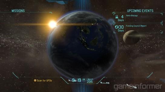 XCOM: Enemy Unknown - glóbus. Každý fanda UFO: EU při tomhle pohledu pookřeje... obrázek: Gameinformer